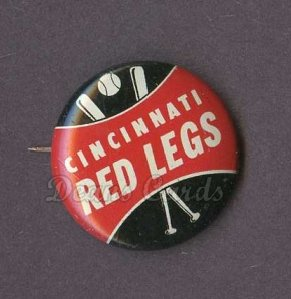 1961 Cranes Potato Chip Pin #5   Cincinnati Red Legs