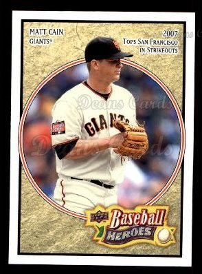 2008 Upper Deck Heroes #80  Matt Cain