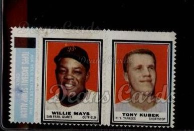 1962 Topps Stamp Panels #124  Willie Mays / Tony Kubek