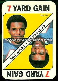 1971 Topps Game Inserts #10  Gale Sayers