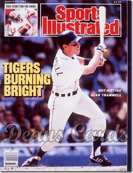 1987 Sports Illustrated   August 17  -  Alan Trammell (Detroit Tigers)