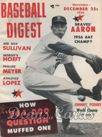 1955 Baseball Digest   -  Johnny Podres  November