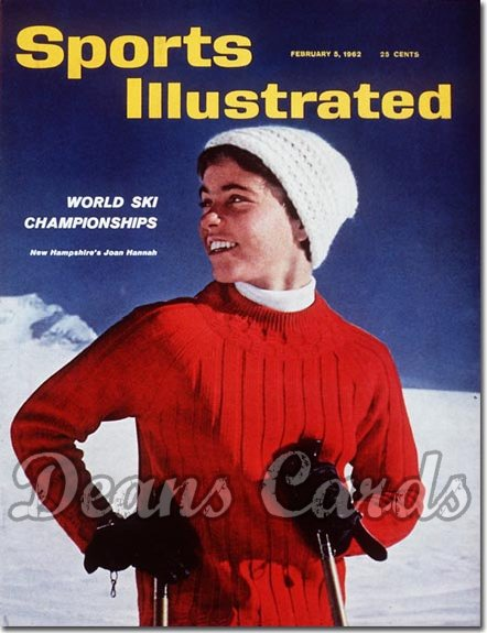 1962 Sports Illustrated - With Label   February 5  -  Joan Hanah Skiing