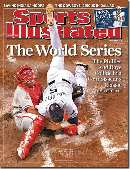 2008 Sports Illustrated - With Label   November 3  -  Carlos Ruiz (Phillies) & Rocco Baldelli (Rays)