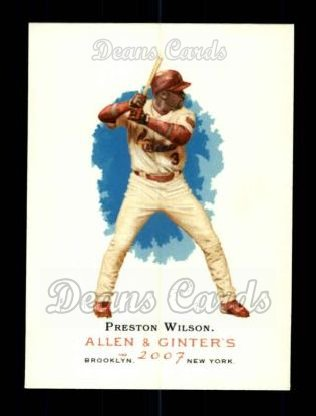 2007 Topps Allen & Ginter #102  Preston Wilson