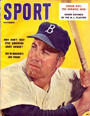 1957 Sport Magazine   -  Duke Snider  September