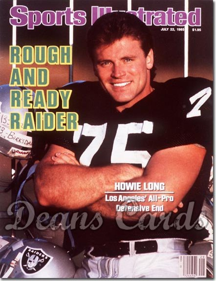 1985 Sports Illustrated - With Label   July 22  -  Howie Long (Los Angeles Raiders)