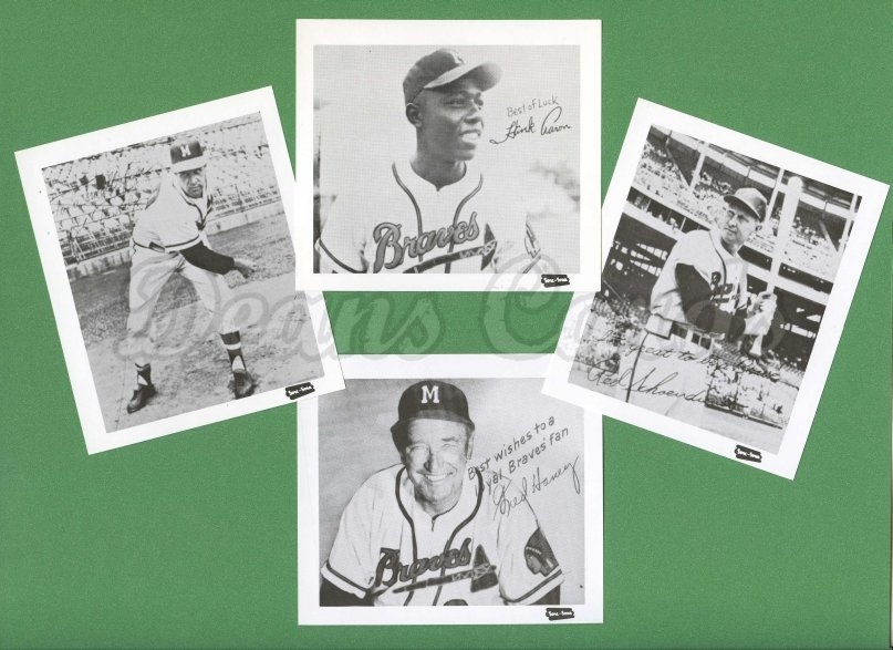 1957 Spic & Span Reprints    Milwaukee Braves Spic & Span Reprint Complete Set