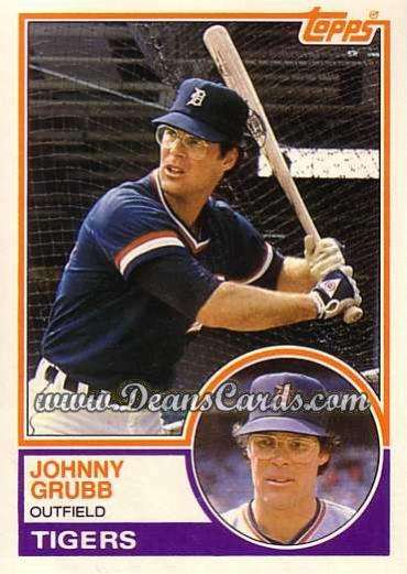 1983 Topps Traded #38 T Johnny Grubb