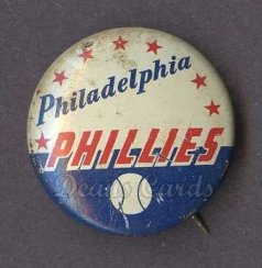 1969 Cranes Potato Chip Pin #15   Philadelphia Phillies