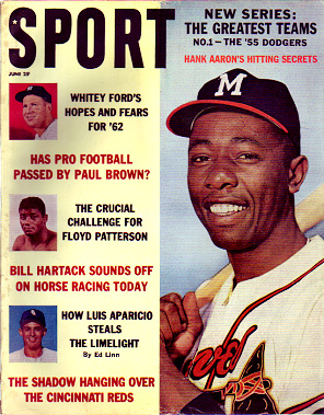 1962 Sport Magazine   -  Hank Aaron  June