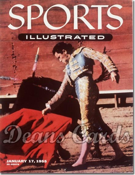 1955 Sports Illustrated - With Label   January 17  -  Rafael Rodriguez (Bullfighter)