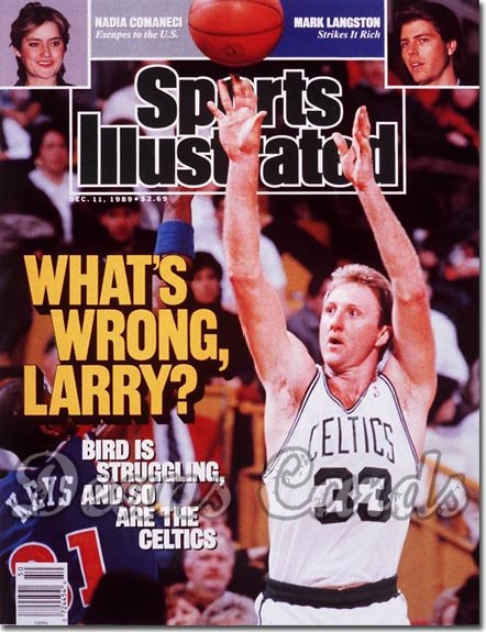 1989 Sports Illustrated - With Label   December 11  -  Larry Bird (Boston Celtics)