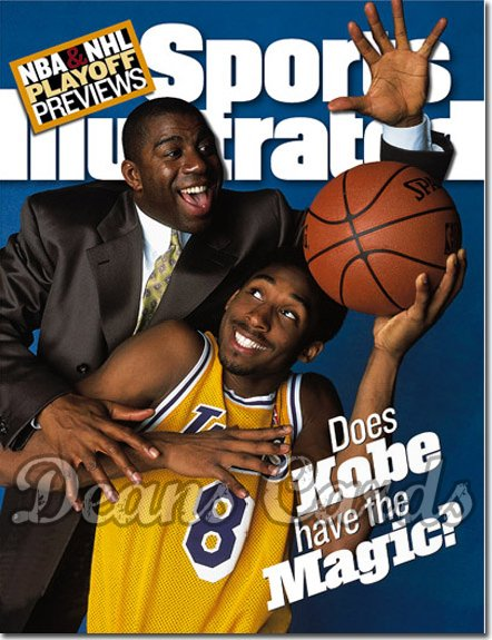 1998 Sports Illustrated - With Label   April 27  -  Kobe Bryant & Magic Johnson LA Lakers