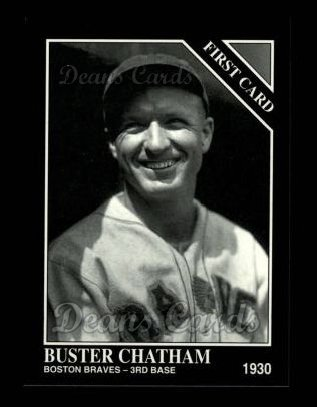 1994 Conlon #1287   -  Buster Chatham First Card