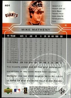 2005 Upper Deck #401  Mike Matheny