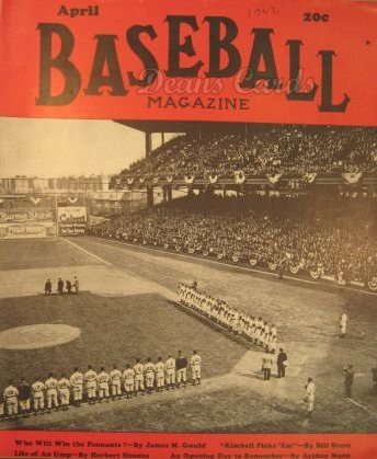 1942 Baseball Magazine    April
