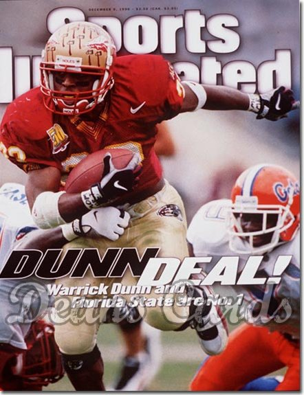 1996 Sports Illustrated - With Label   December 9  -  Warrick Dunn (Florida State Seminoles)