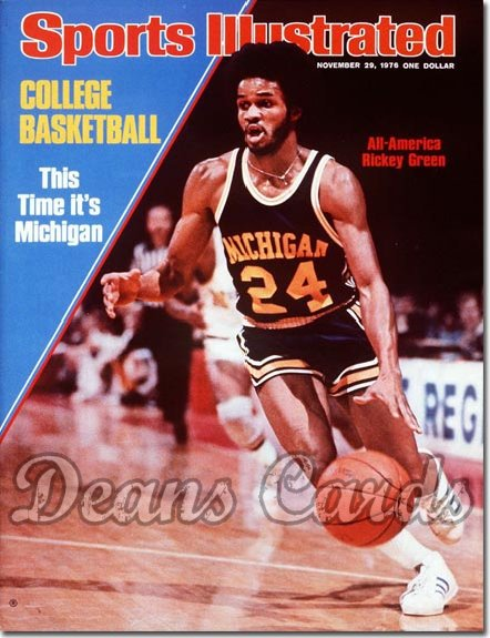 1976 Sports Illustrated - With Label   November 29  -  Rickey Green (Michigan Wolverines)