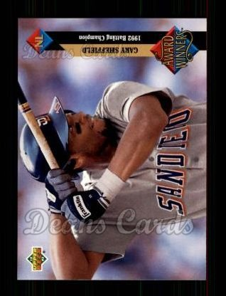 1993 Upper Deck #494   -  Gary Sheffield Award Winners