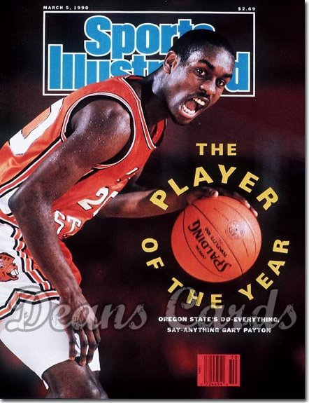 1990 Sports Illustrated - With Label   March 5  -  Gary Payton (Oregon State Beavers)