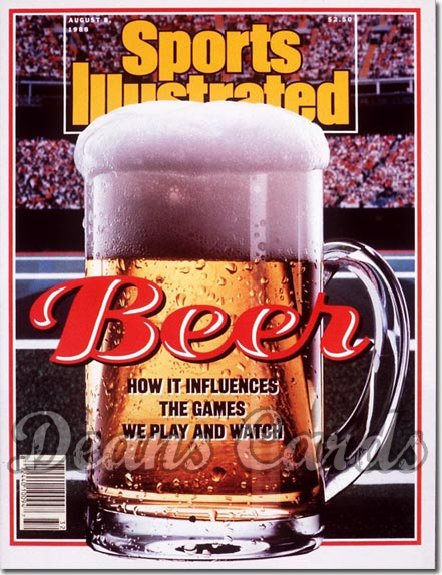 1988 Sports Illustrated - With Label   August 8  -  Beer in Sports