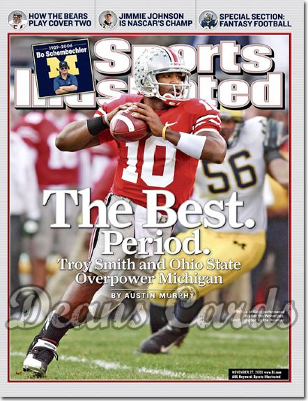 2006 Sports Illustrated   November 27  -  Troy Smith Ohio State Buckeyes