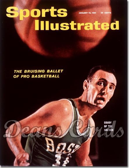1961 Sports Illustrated - With Label   January 16  -  Bob Cousy (Boston Celtics)