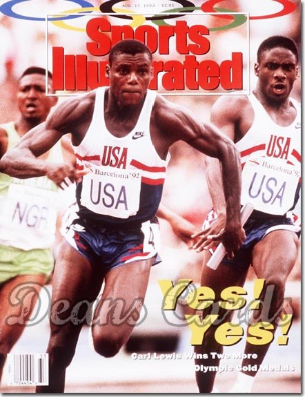 1992 Sports Illustrated - No Label   August 17  -  Carl Lewis & Dennis Mitchell (USA Track)