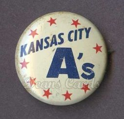 1968 Cranes Potato Chip Pin #9   Kansas City A's