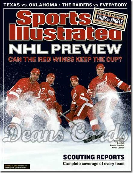2002 Sports Illustrated   October 14  -  Detroit Redwings Brett Hull Chris Chelios