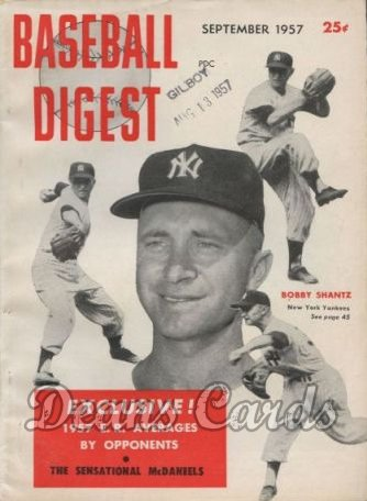 1957 Baseball Digest   -  Bobby Shantz  September