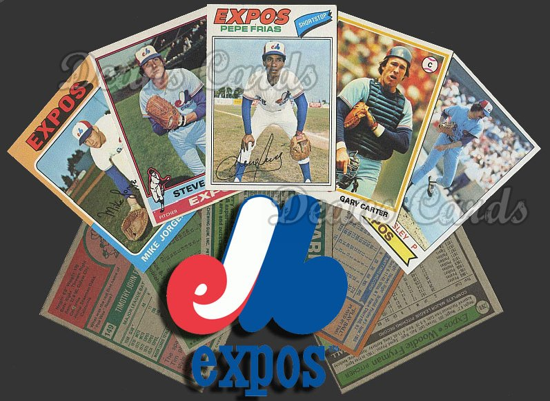 1975 Topps   -79  Montreal Expos Team Starter Set / Lot - Md