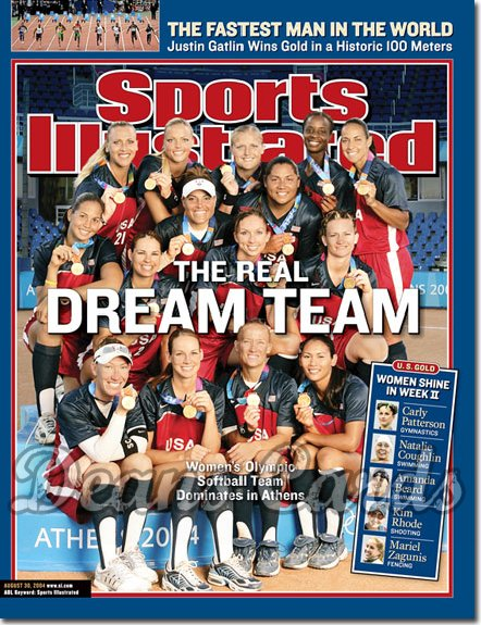 2004 Sports Illustrated   August 30  -  Women's Olympic Softball Team