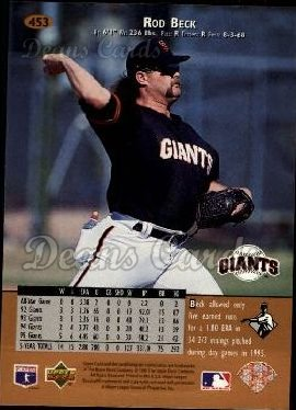 1996 Upper Deck #453  Rod Beck