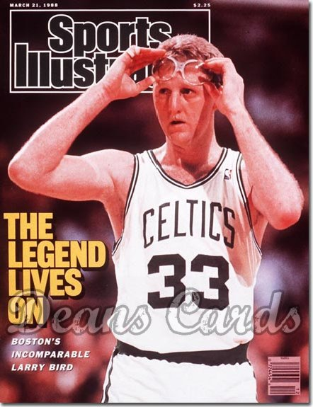 1988 Sports Illustrated - With Label   March 21  -  Larry Bird (Boston Celtics)