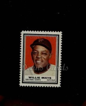 1962 Topps Stamps #199  Willie Mays