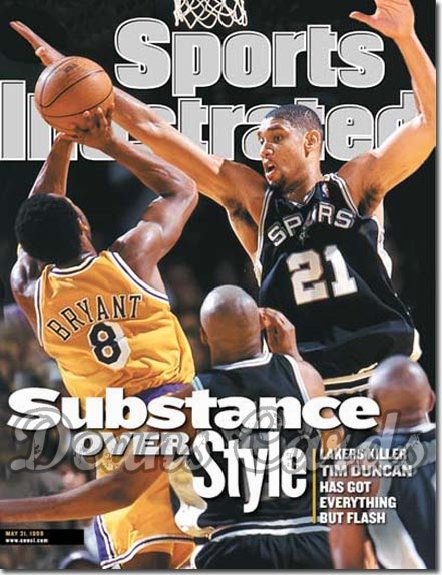 1999 Sports Illustrated - With Label   May 31  -  Tim Duncan (San Antonio Spurs) Kobe Bryant (LA Lakers)