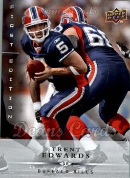 2008 Upper Deck First Edition #16  Trent Edwards