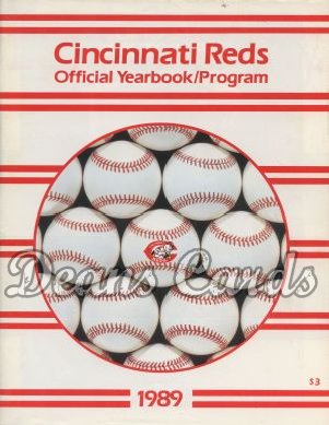 1989 Cincinnati Reds Yearbook - Baseball with Reds logo