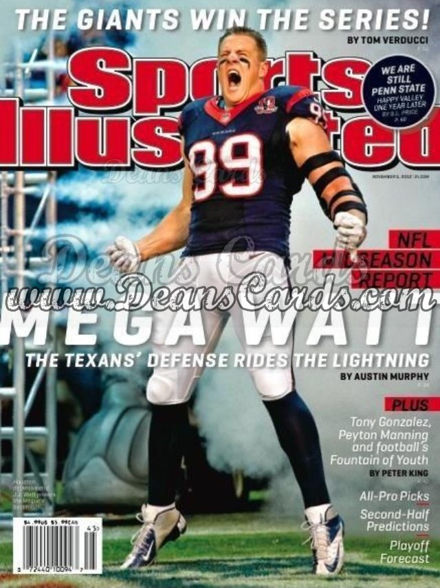 2012 Sports Illustrated   November 5  -  J.J. Watt / Houston Texans / Megawatt