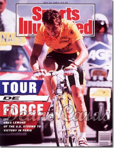 1989 Sports Illustrated - With Label   July 31  -  Greg Lemond (Cycling/Cyclist)