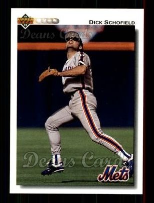 1992 Upper Deck #791  Dick Schofield