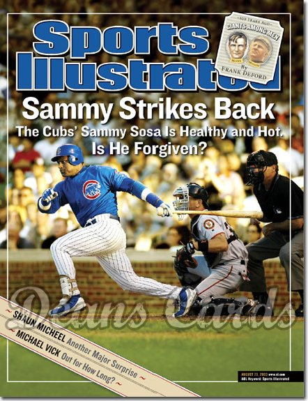 2003 Sports Illustrated   August 25  -  Sammy Sosa (Chicago Cubs)