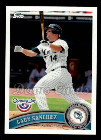 2011 Topps Opening Day #26  Gaby Sanchez