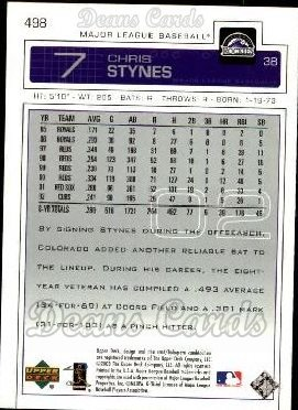 2003 Upper Deck #498  Chris Stynes