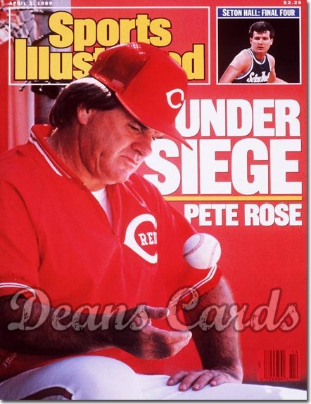 1989 Sports Illustrated - With Label   April 3  -  Pete Rose Cincinnati Reds