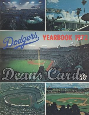 1972 Los Angeles Dodgers Yearbook - Dodger Stadium