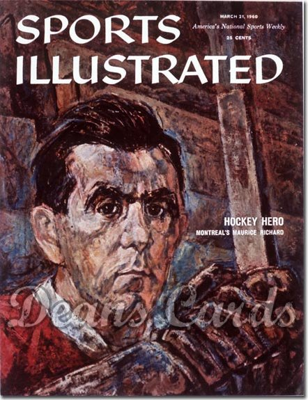 1960 Sports Illustrated   March 21  -  Maurice Richard (Montreal Canadiens)