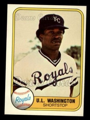 1981 Fleer #34  U.L. Washington